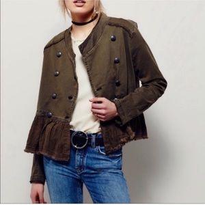 Free people military blazer jacket